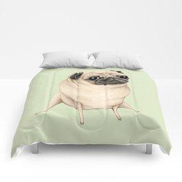 Sweet Fawn Pug Comforters