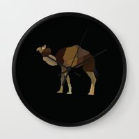 camel Wall Clocks featuring Camel by ANIMALS + BLACK