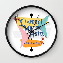 Stardust Motor Hotel Sign Wall Clock