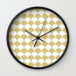 Fan Pattern 321 Gold Wall Clock