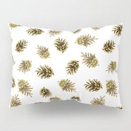 Pine cones pattern. Nature Pillow Sham