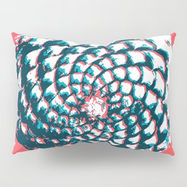 pine cone pattern in coral, aqua and indigo Pillow Sham