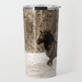 Free Runner - Sepia Travel Mug