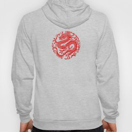 Traditional Red Chinese Dragon Circle Hoody