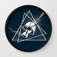floyd Wall Clocks featuring pink Floyd  by mark ashkenazi