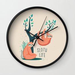 Sloth Life Wall Clock
