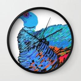 PeaHen & Cassowaries Wall Clock