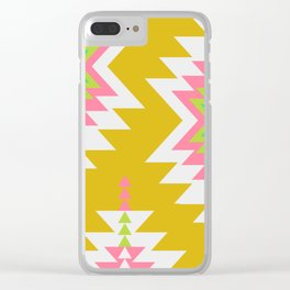 Bohemian shapes Clear iPhone Case