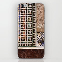 Details in The Alhambra Palace. Gold courtyard iPhone Skin