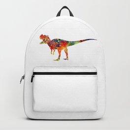 Ceratosaurus Dinosaur Art Colorful Watercolor Art Gift Prehistoric Art Animals Lovers Art Kids Gifts Backpack