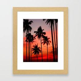 Tropical Island Sunset Framed Art Print