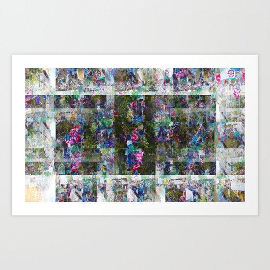 Carbon Algal Boonies Line Art Print