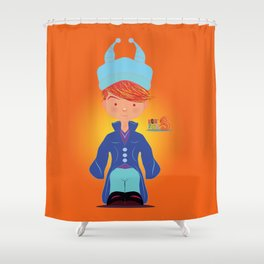 Le petit Mikel /Character & Art Toy design for fun Shower Curtain