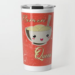 Ramen Queen Japanese Noodles Vintage Retro Style Travel Mug
