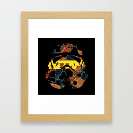 Stormtrooper Contrast Pattern Framed Art Print
