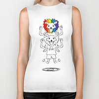 bisexual Biker Tanks featuring Gay Pride Lions by mailboxdisco