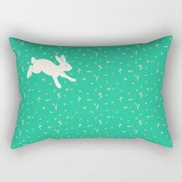 Running Bunny Rectangular Pillow