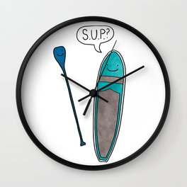 SUP Stand Up Paddleboard Cute! Wall Clock