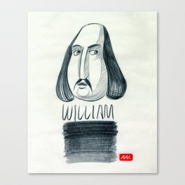 William (drawing) Canvas Print