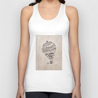 ballon Tank Tops featuring Hot Air Ballon by violart