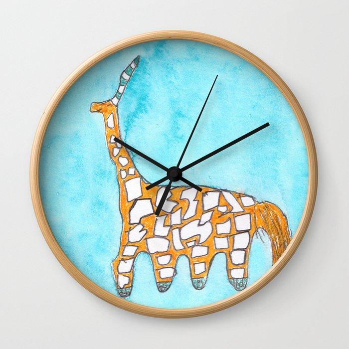 Girafficorne Gazelle by Garrett Wall Clock