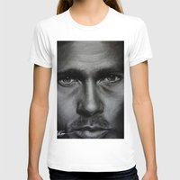 brad pitt T-shirts featuring Brad Pitt by Future Illustrations- Artwork by Julie C