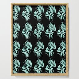 Palm Leaves Pattern #2 #Mint #Black #decor #art #society6 Serving Tray