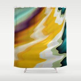 Sunny Fractal Shower Curtain