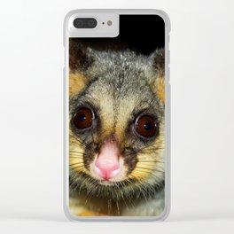 Waddaya Doin' (Brushtail Possum) Clear iPhone Case