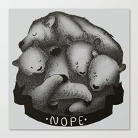 nope Canvas Prints featuring Nope by Tobe Fonseca