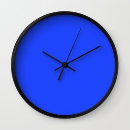Cheapest Solid Deep Blue Orchid Color Wall Clock