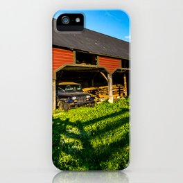 Jeep, Tractor & Barn iPhone Case