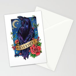 Nevermore Raven Stationery Cards