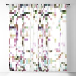 pixelated Blackout Curtain