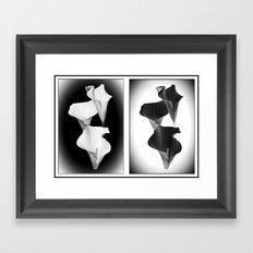 Calla Lillies. Black + White. Framed Art Print