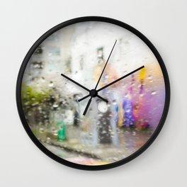 Rainbow Crosswalk on Davie -  Vancouver Wall Clock