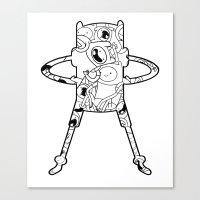 finn Canvas Prints featuring Finn  by 8BOMB