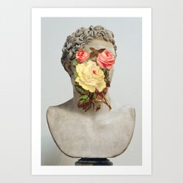 Bust With Flowers Art Print