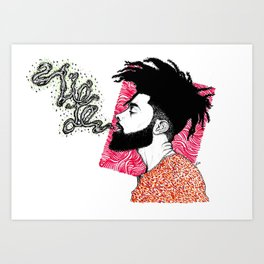 When HE breathes life Art Print