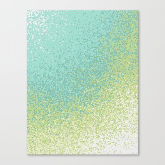 Abstract Green Blend Canvas Print