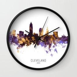 Cleveland Ohio Skyline Wall Clock
