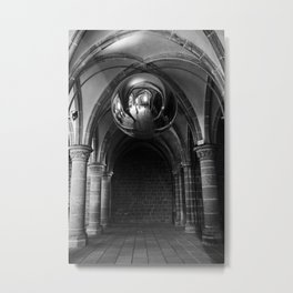 Silent Moment at Mont Saint-Michel Metal Print