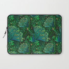 Peacocks in Emerald Forest Laptop Sleeve