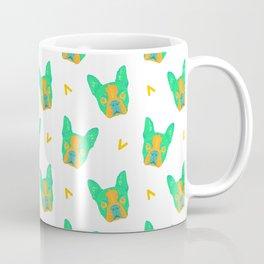 boston terrier - wht pattern Coffee Mug