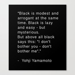 Black is Canvas Print