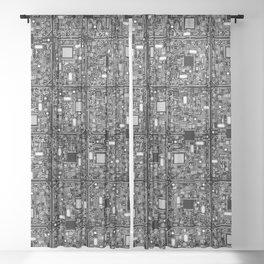 Serious Circuitry Sheer Curtain