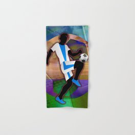 Soccer Player Silhouette Hand & Bath Towel