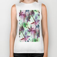 northern lights Biker Tanks featuring Northern Lights by Cannabis Color Art