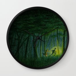 Throughout the woods... Wall Clock