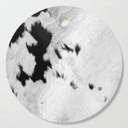 Cowhide Minimalistic Fur Texture Detail Cutting Board